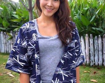 Kimono style vest, light, 100% cotton