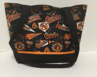 Orioles Quilted Purse - Quilted Tote - Market Bag - Shopping Bag - NHL Purse - MLB Purse - Baltimore Orioles Tote - Shoulder Bag