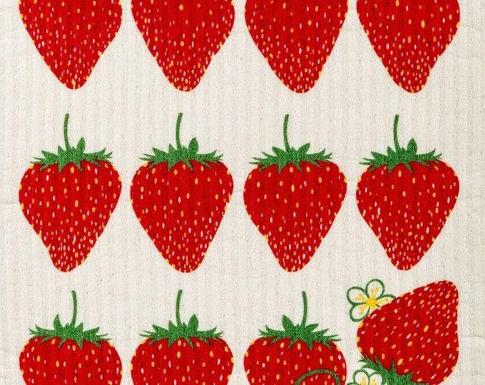 Strawberry Swedish Cloth