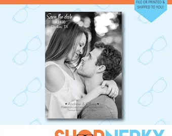 Personalized Wedding Save the Date with Your Photo  |  PRINTABLE