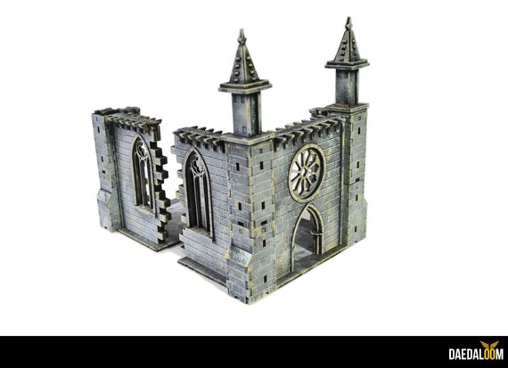 Ruined chapel for warhammer mordheim frostgrave 28mm miniature