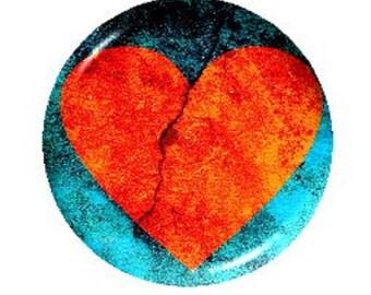 18mm cabochon orange heart