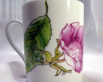 Limoges hand painted porcelain mug