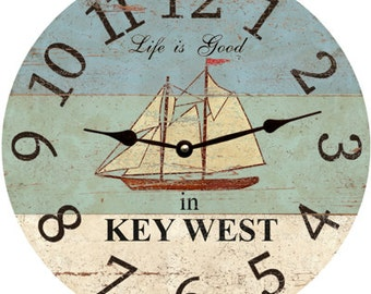 Personalized Life is Good Ship Clock