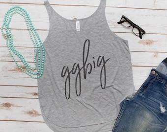 Big Little, GGBig, GBig, Fashion Tank, Sorority, Letters, Greek Letters, Women's Tank