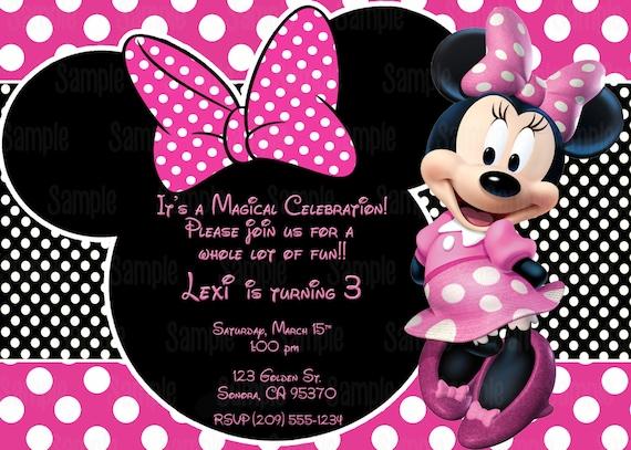 Para imprimir invitación de Minnie Mouse plus gratis juego