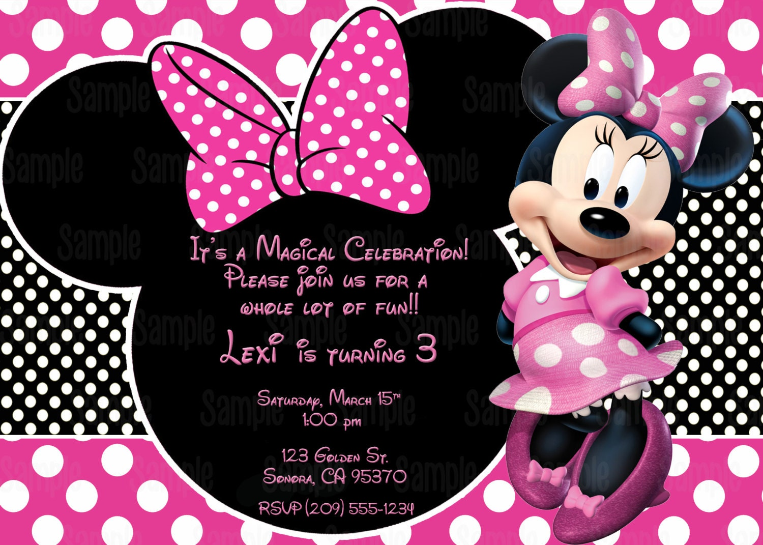 Printable minnie mouse invitation plus free blank matching zoom maxwellsz