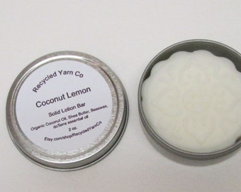 COCONUT LEMON Solid Lotion Bar made with doTerra essential oil