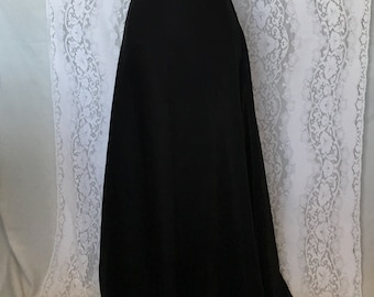Vintage 80's/90's shimmery irredescent long black-gray skirt