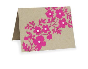 Trellis Card , Bank inside , Flower , Leaves , All Occasions , Friend , Family , Co-worker