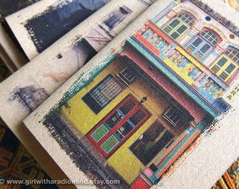 Singapore Traveler Notebook 15 - Colorful Shophouses - Travel Inspirations in your Pocket - Shop House Mini Journal