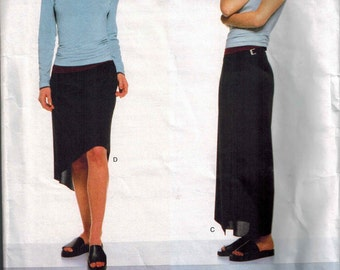 1997 Vogue 2011 Vogue American Designer Calvin Klein Top and Skirt Sewing Pattern Sizes 6-8-10 UNCUT Wrap Skirt