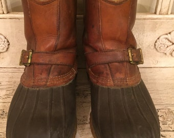 Vintage LL Bean Boots -   Size 8 L - Rugged, Broken in - Bean Duck Boots