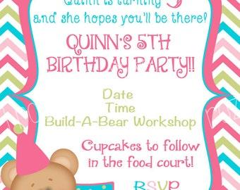 Build a bear invite etsy bear digital birthday invitation filmwisefo Images