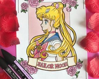 Design hand made Sailor moon (ORIGINAL, no print)