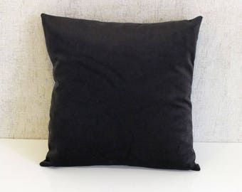 Black Velvet Throw Pillows, Velvet Pillow Cover, Decorative Pillows, Luxury Pillows, Velvet Cushion Case,