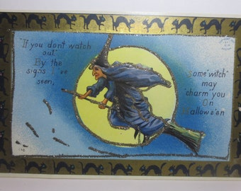 Antique Halloween Postcard