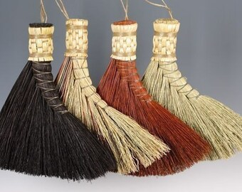Turkey Wing Broom hand broom In Your choice of Black, Rust or Mixed - Small Table Broom - Whisk