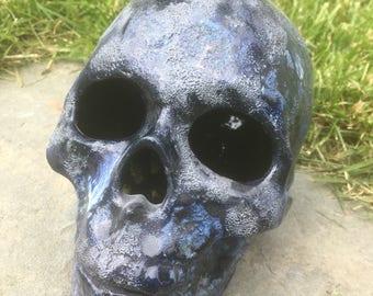 Ceramic human skull