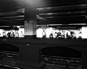 Grand Central New York Subway -Black and White Photography - NYC Art - Urban Travel Inspired -  Fine Art Photograph
