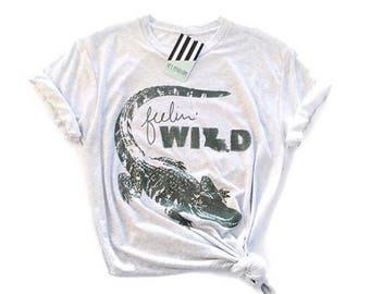 Hey, Penelope Feelin' Wild T-Shirt in White Fleck