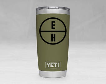 YETI Rambler Tumbler 20 oz stainless steel, Custom Monogram, Vinyl Design, Monogram, Name, Personalized, Decal, Groomsmen,