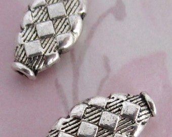 10 pcs. casted pewter harlequin beads 17x9x3mm - f4080