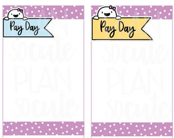 Fingie Pay Day Flags, Planner Stickers -068