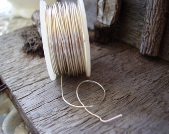 28-gauge silver plated wire -  50 ft