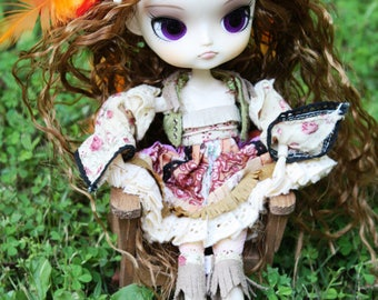 Playscale 1:6 Blythe Pullip Barbie DAL YoSD Adirondack Chair in Antique Gold or Black