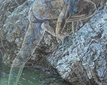 Illusion, Individuation - Ltd Ed. Giclée Art Print on Canvas by Jane Nicol