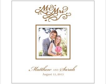 Personalized Wedding Photo Album, Anniversary Photo Album, Holds 200 4 x 6 Photos, Mr & Mrs, Wedding Gift, Anniversary Gift, Personalized