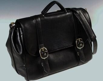 Laptop Flap Briefcase - black