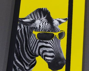 notebook pages white Zebra yellow note book