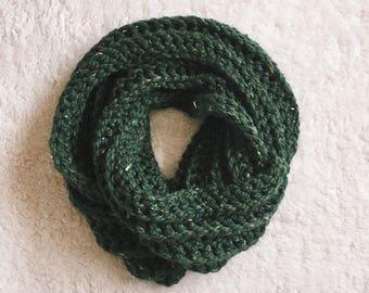 READY TO SHIP X Zero Below Infinity Scarf X Chunky Scarf X Crochet Scarf