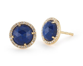 trustmark natural blue lazuli amazon lapis gold earrings post ball com dp yellow stud