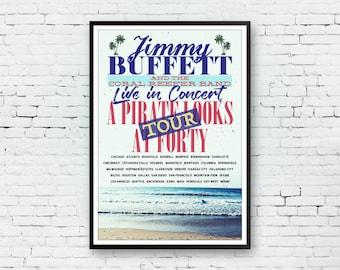 Jimmy Buffett, Concert Poster, Jimmy Buffett Print, Margaritaville Art, Parrothead Print, Jimmy Buffett Art, Pop Art Print
