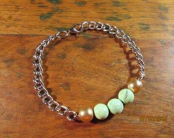 Green marble bracelet
