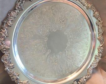 Silverplate Serving Tray by Sheridan