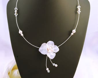 Bridal necklace sweet hydrangea