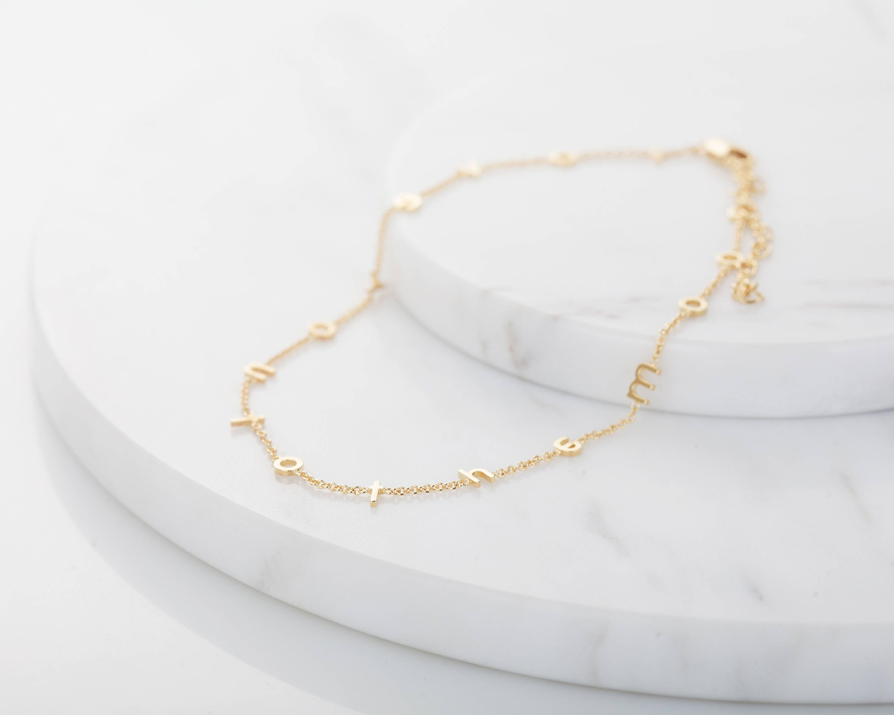 milka and seed trend designer dots kismet solid strand gold by stone products anklet rose