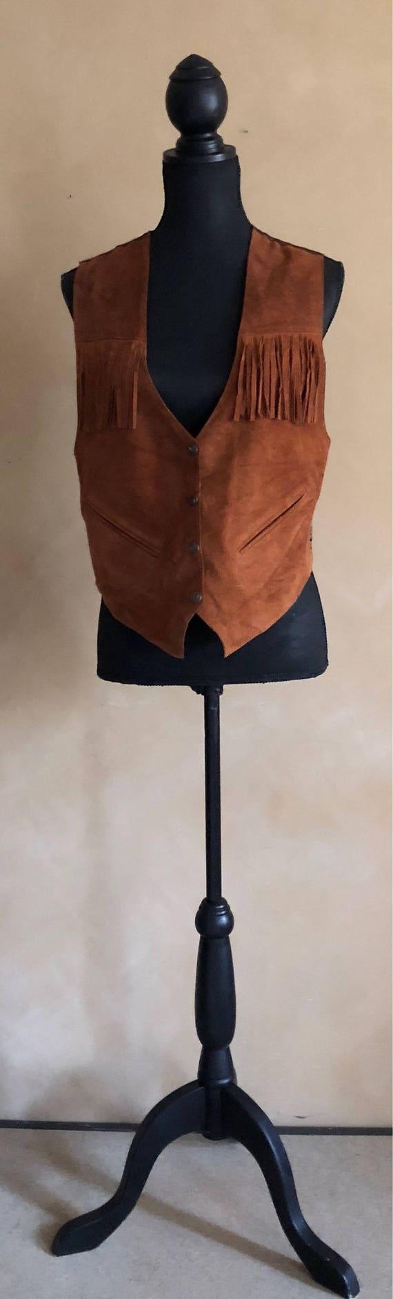 Vintage Seude Fringed Vest