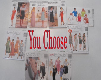 Your Choice Vintage 90's Butterick and McCall's Sewing Patterns 3994 4337 6900 4893 5090 2118 5191 2100