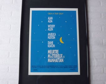 1993 Woody Allen Meurtre mysterieux à Manhattan original movie poster