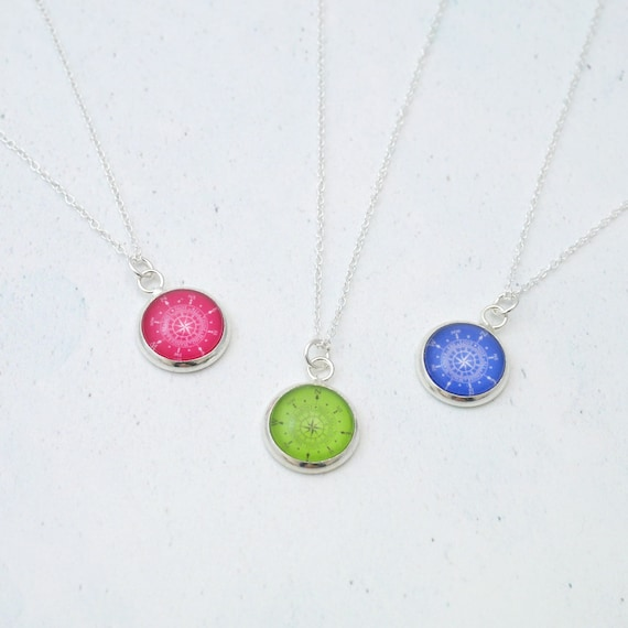 Birthstone Compass Necklace