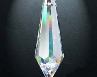 10 Asfour Full Lead Crystal Clear Icicle Chandelier Crystal 38mm Prisms Shabby Chic