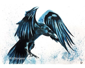 """Watercolour """"Mother of Crows"""" Print"""