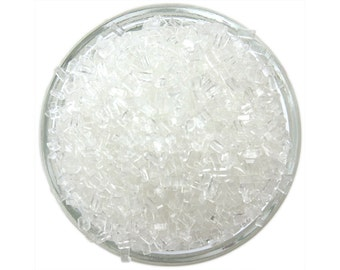 White Chunky Sugar - bright white sugar crystals sprinkles for decorating cupcakes, cakes, cakepops, and cookies