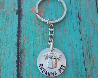 Personalized Softball Keychain - Softball Keychain - Keychain - Softball Player Gift - Softball - Gift for Softball Player