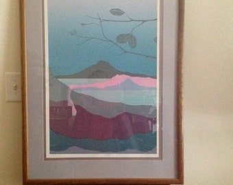 ALEX MILES & Carl Piazini Limited Edition Landscape Modern Abstract Prints Signed and numbered Framed